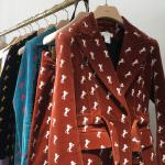 Chloé velvet horse suit
